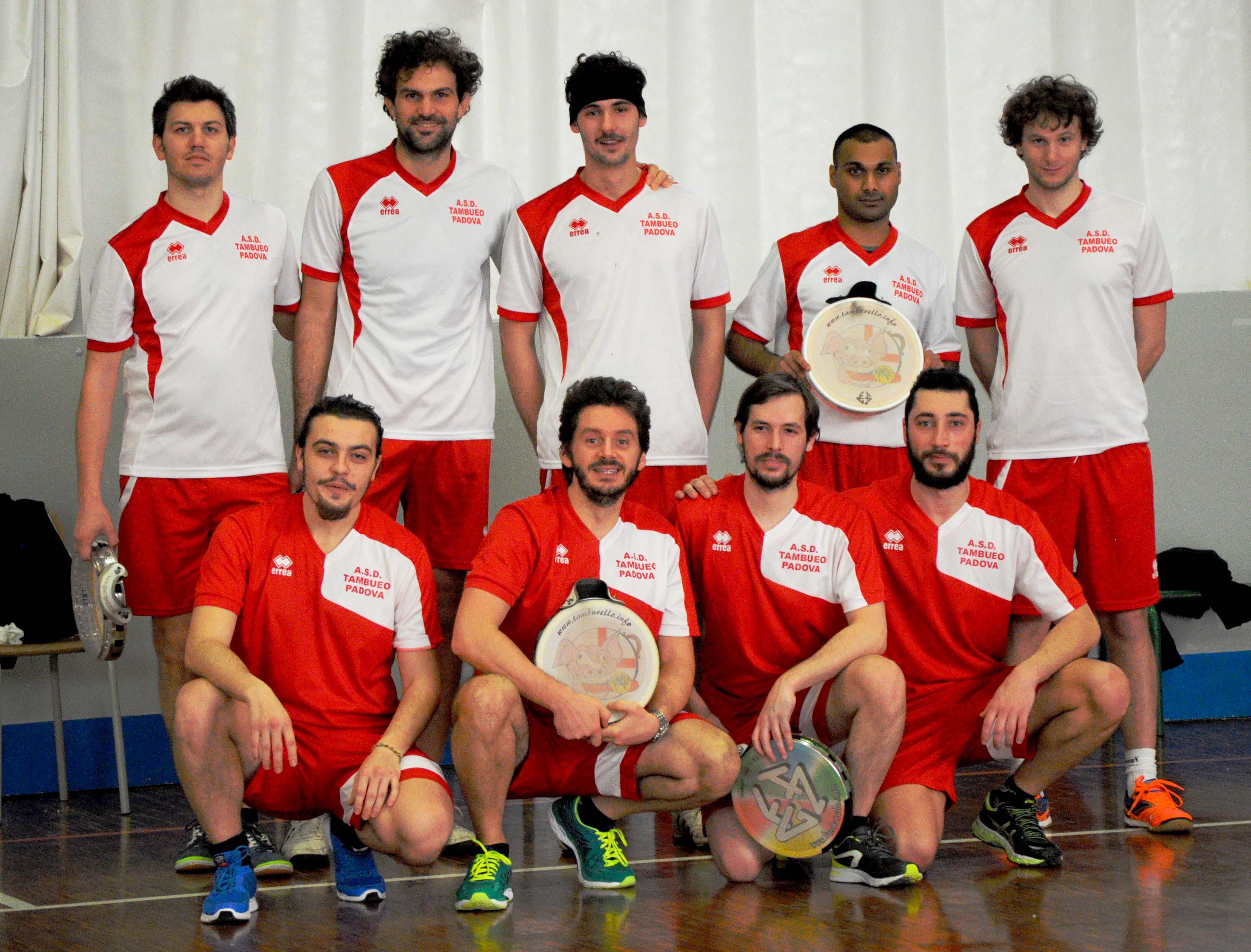 Tamburello Padova indoor squadra